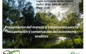 cartel regeneración de ecosistema cañada